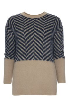 Primark - Navy Colour Block Brushed Jumper