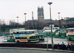 Leeds Bus Station, outside the markets.