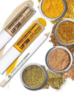 Another key shade range for Fall? Variations on gold! Whether dusting eyes with our #LooseColour in 'Pollencount', 'Triptych' or 'Flicker', or gilding your face and body with our 'Gold' #Glitter, it's an accent that makes an impact. Want a 24K Gold Lip? Mix 'Alchemy' & 'Traffic' #LipTar and line with 'Anti-Feathered' #OCCPencil for budge-proof beauty.