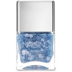Nails inc Queensgate Gardens Floral Effect Polish/0.47 oz. (990 RUB) ❤ liked on Polyvore featuring beauty products, nail care, nail polish, nails, beauty, makeup, blue, apparel & accessories, glossy nail polish and nails inc.