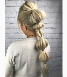 """326 Likes, 20 Comments - West Chester PA Hairstylist (@thehairstylish) on Instagram: """"BUBBLE BRAID • I can't believe how many photos I have from this one shoot with @micha_moss. I need…"""""""