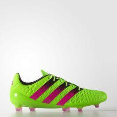 adidas – Zapatos de Fútbol ACE 16.1 Césped Natural/Artificial Solar Green/Shock Pink