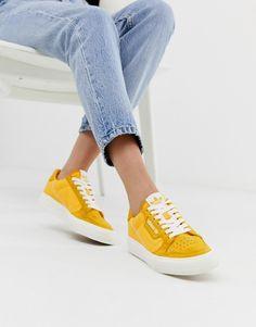 brand new 4a807 065e4 adidas Originals Continental 80 Vulc trainers in mustard