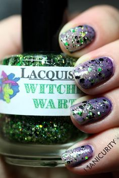 manicurity:  TGIF: Lacquistry Witches Warts | Click through for...