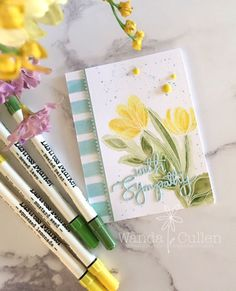 Happy Wednesday everyone! Lisa Henke has a really sweet color palette for the new Color Throwdown Challenge : light yellow, green a...