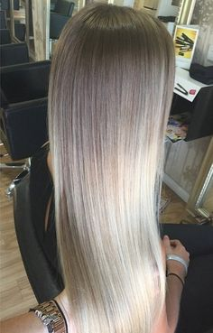brown+to+ash+blonde+ombre