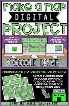 Engaging map skills activities map skills cardinals and scale make a map digital project in google drive is a great way for students gumiabroncs Choice Image