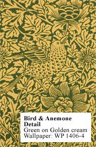 Historic Style - Bird & Anemone WP, by William Morris - Dining room