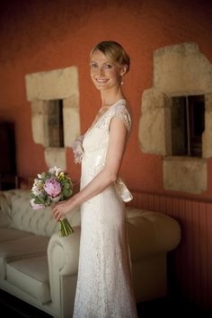 Boda en Jardins de l'Empordà Wedding Photographer Girona  wedding dress Claire Pettibone