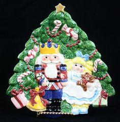 Fitz & Floyd NUTCRACKER SWEETS 1992 Canape Plate Soldier Clara Christmas Tree