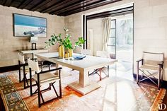 The designer's home in the South of France is très chic.