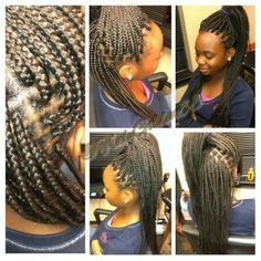 Magnificent Small Box Braids W Dipped Ends Small Size Box Braids By Me Short Hairstyles For Black Women Fulllsitofus
