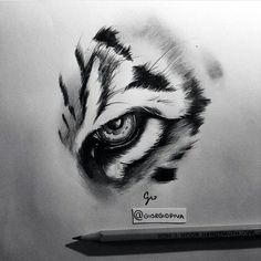 Tiger Eyes Tattoo, Tiger Tattoo Design, Tattoo Designs, Tattoo Sketches, Tattoo Drawings, Drawing Sketches, Simbolos Tattoo, Lion Tattoo, Animal Sketches