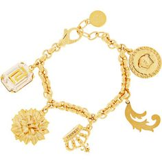 @brezlyn deshone...Versace Gold-plated charm bracelet