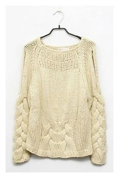 Chunky Cable Knit-with Cut-out Shoulder...@Angie Gren Interiors I dedicate this one to David.
