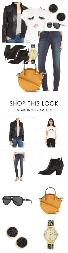 """""""Julianna D."""" by mloveless-1 ❤ liked on Polyvore featuring Bernardo, Sincerely, Jules, KUT from the Kloth, DV, Armani Exchange, Topshop, Gorjana and INC International Concepts"""