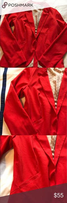 Francesca Closet Red Blazer Annabella blazer, excellent condition! Cute for a pop of color! Francesca's Collections Jackets & Coats Blazers