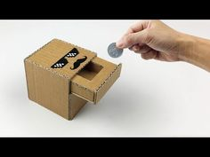 How To Make Coin Bank Box from Cardboard, Diy Magic Piggy Bank at Home - If you like video please - SUBCRIBE - LIKE - SHARE - COMMENT - Thanks for watching v. Cardboard Box Diy, Cardboard Robot, Diy Cardboard Furniture, Fun Projects For Kids, Creative Activities For Kids, Disney Diy Crafts, Diy Crafts For Gifts, Vending Machine Diy, Paper Toys