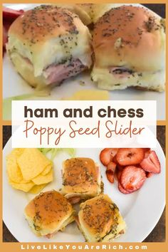 These Ham and Cheese Poppy Seed Sliders bring a gourmet taste to the traditional ham and Swiss slider. They are a huge crowd-pleaser. Great for a luncheon, potluck, or even dinner! #hamandcheese #hamandswissslider #handandcheeseslider