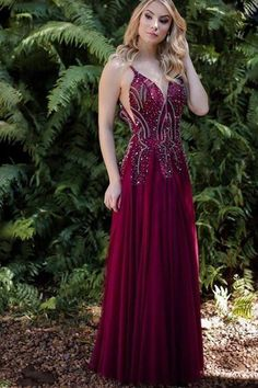 Prom Dress Princess, A-Line Deep V-Neck Floor-Length Burgundy Chiffon Prom Dress with Beading Shop ball gown prom dresses and gowns and become a princess on prom night. prom ball gowns in every size, from juniors to plus size. Pageant Dresses For Teens, Prom Dresses Under 100, 2 Piece Homecoming Dresses, Elegant Bridesmaid Dresses, Affordable Prom Dresses, Prom Dress Stores, Backless Prom Dresses, Chiffon Dresses, Beaded Prom Dress