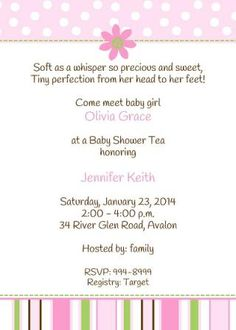 Come meet the new baby! Baby Shower Invitation for after the baby arrives with pink daisy.