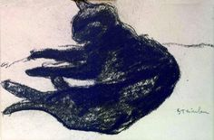 Theophile-Alexandre Steinlen (1859-1923) » Drawings » Cats » Black Cat