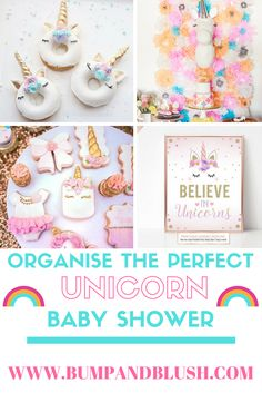 The perfect unicorn baby shower: unicorn party, unicorn baby shower, unicorn themed party, bay shower, unicorn cake, unicorn cupcake, unicone cakepop,