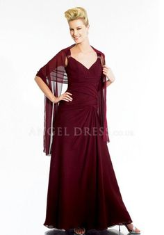 Chiffon A line V Neck Sleeveless Floor Length Natural Waist Mother of the Bride Dress