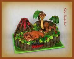 The Land before time cake
