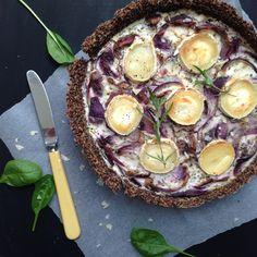 Kød fri mandag: Karameliseret rødløgstærte på quinoa bund | Vanløse Blues | Bloglovin'