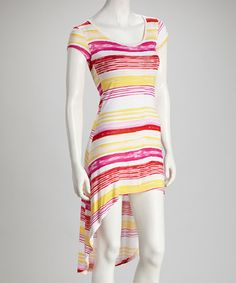 Take a look at this Pink Lemonade Stripe Hi-Low Dress by Sassy Wahine on #zulily today! $24.99, regular 42.00