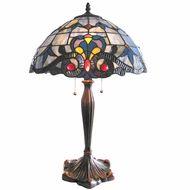 Petaled Victorian Tiffany Table Lamp