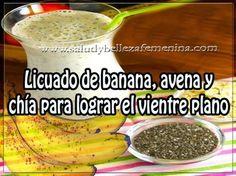 Licuado de banana, avena y chía para lograr el vientre plano