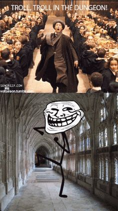 Harry Potter Memes No Swearing minus Harry Potter Ride Hogwarts, Harry Potter Jokes, Harry Potter Fandom, Harry Potter Comics, Ravenclaw, Fans D'harry Potter, Troll Face, Lord Voldemort, Rage Comics