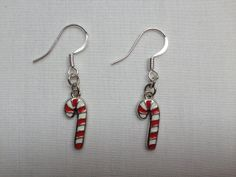 Candy Cane Holiday Earrings