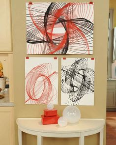 "This spirograph-inspired project from TV crafter Jim ""Figgy"" Noonan combines science and art to create a one-of-a-kind design, as seen on ""The Martha Stewart Show."""