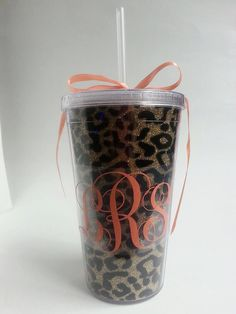 Coral Leopard Tumbler from LilyBirdFly on Etsy. Saved to etsy Shop more products from LilyBirdFly on Etsy on Wanelo. Leopard Birthday Parties, Cute Cups, Pink Leopard Print, Everything Pink, Etsy Seller, Coral, Etsy Shop, Cool Stuff, Stylish