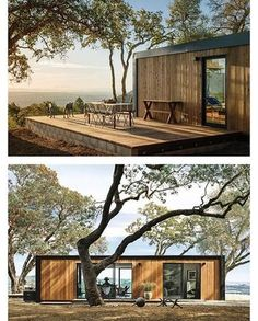 'Connect prefab in-law unit, California by Connect:Homes Container House Design, Tiny House Design, Shipping Container House Plans, Shipping Containers, Casas Containers, Affordable Housing, Little Houses, Mini Houses, Connect 5