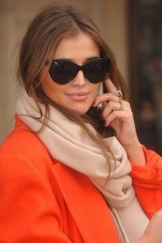 Orange and camel...