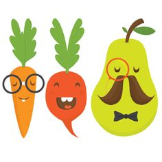 vegetable temporary tattoos-  remind me of Japanese illustrations- also from experience, children like images with faces on; humanise an object.
