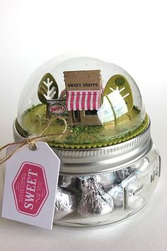 Something Sweet Candy Jar by Heather Nichols for Papertrey Ink (March Diy Christmas Gifts For Friends, Diy Xmas Gifts, Cool Gifts, Candy Crafts, Jar Crafts, Tree Crafts, Christmas Projects, Christmas Crafts, Christmas Stuff