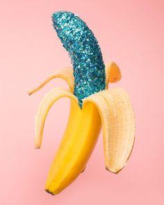 """Shine bright like a diamond! ✨✨ from our collab with @milk @milk_magazine at #Maisonetobjet #banana #glitter #odd #objects #food #matherystudio…"""