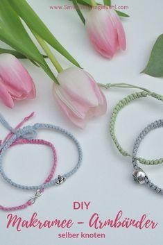 DIY: Armbänder mit Makramee selber knoten * DIY: Bracelets with macrame itself knot * – Smilla's feeling of home Macrame Bracelet Diy, Bracelet Knots, Bracelet Cuir, Diy Jewelry Unique, Diy Jewelry To Sell, Jewelry Crafts, Star Jewelry, Armband Diy, Beach Bracelets