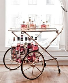 Pink Bar Cart #glam #camillestyles