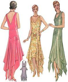1920s evening dress pattern