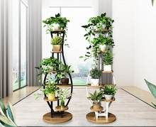 Living room household flower shelf, multi-storey indoor balcony iron round shelf, decorative green lotus pendant orchid shelf Source by Balcony Flowers, Indoor Flowers, Indoor Plants, Garden Rack, Round Shelf, Indoor Balcony, Living Room Partition, Decoration Plante, Inside Plants
