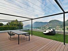 Garden pergola metal wooden floor terrace canopy garden furniture resized
