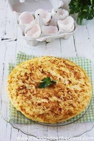 Cocinando entre Olivos: Tortilla de bacalao. Receta paso a paso.