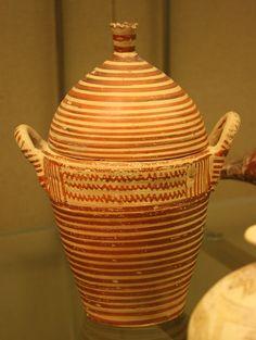 700 BC Of unusual form. Photographed at the British Museum, London. Corinthian, British Museum, Tea Pots, Culture, London, Tableware, Pattern, Design, Art