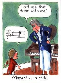 Mozart as a child...even arguments were musical #musichumor